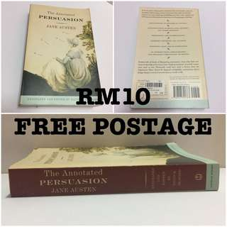 English Novel THE ANNOTATED PERSUASION by Jane Austen