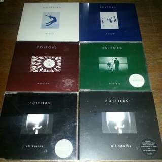 CD singles set 6pcs EDITORS