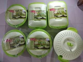 Asvita emerald wadah penyimpanan bakul nasi
