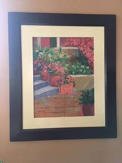 Original Artwork Painting by Victoria: On The Terrace