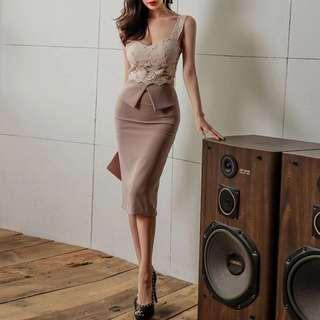 Jadey Lace Shift Bodycon Dress