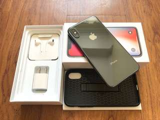 iPhone X 256gb Space Gray 100% Smooth Like New Openline Complete
