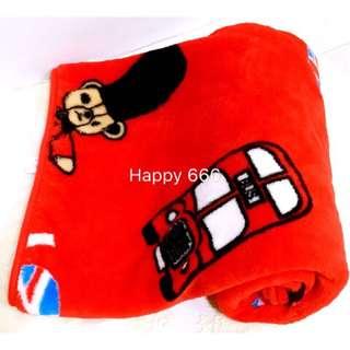 🚚 $58元🐻[英國熊]珊瑚絨毯(80*120cm)輕柔軟嬰幼兒毯/冷氣毯/送禮自用兩相宜