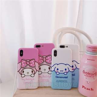 Cinnamonroll and melody phone casing