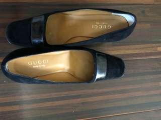 🚚 真品Guggi 雙Glogo 皮鞋己加底38-39可穿九成新