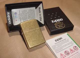 美國 ZiPPO打火機 201FB Antique Brass