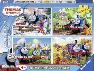 英國直送Ravensburger Thomas and Friends 4-in-1 Jigsaw Puzzle