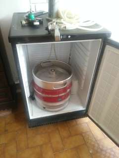 Beer Keg with Tap Beer Fridge