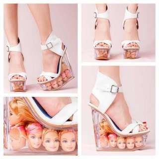 🚚 Jeffrey Campbell Lucite Wedge