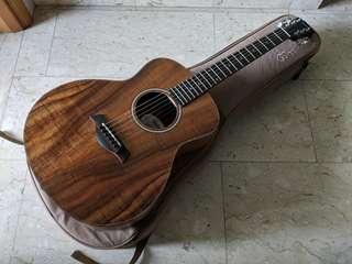 Taylor GS Mini e Flamed Koa Body Ebony Fretboard Expression System 2 Acoustic Guitar