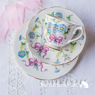 Vintage Royal Albert Flower of the Month No. 9 trio, for September birthday