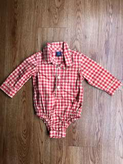 Baby Gap Checkers Romper