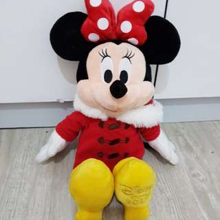 Disney Store迪士尼樂園2017米妮玩偶/布偶