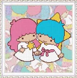 BN Full Diamond Painting Kit Little Twin Stars 1 (30x30cm) 满钻双子星1钻石画