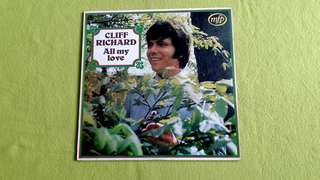 CLIFF RICHARD . all my love.  Vinyl record
