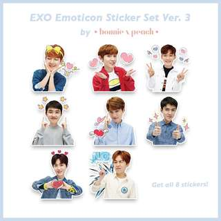 EXO Emoticon Sticker Set Ver.3