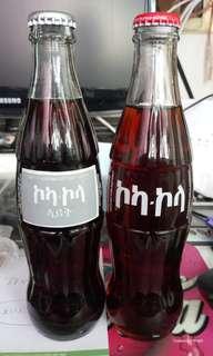 埃塞俄比亞文字可口可樂及light 2瓶