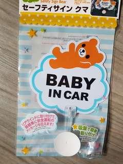 Baby in car 搖擺車貼