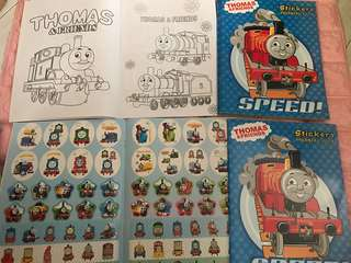 Instock Thomas and Friend Coloring And Stickers book .. book only -$4 and book w crayon set -$4.90