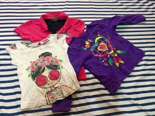 Free SF - 3 shirts/tops for girls - preloved