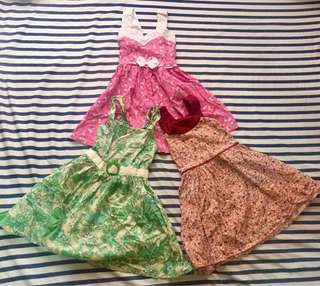 Free SF - 3 girl dresses bundle - preloved