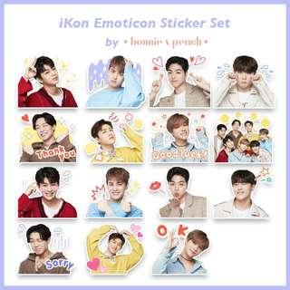 iKon Emoticon Sticker Set