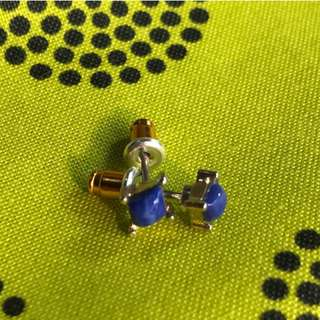 [90%NEW] 藍色耳環 earrings