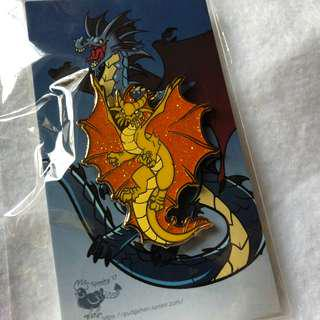 Metallic Dragon Enamel Pins - Traditional Tabletop Badges by Andrew Hubbard (on Kickstarter)