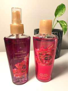 Victoria Secret Pure Seduction Frangrance Mist & Body Wash