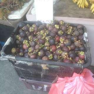 Rambutans and mangosteen