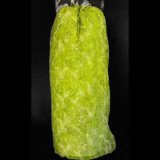設計品牌MAG瑪萱100%蠶絲綠色長裙 M號 可當洋裝