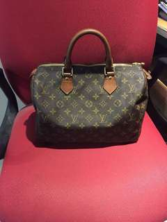 Guaranteed Authentic Louis Vuitton Monogram Speedy 30 Bag 💯Original