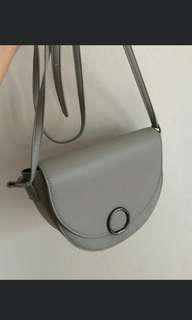 Grey sling bag miniso