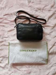 Longchamp black leather 2.0 crossbody bag