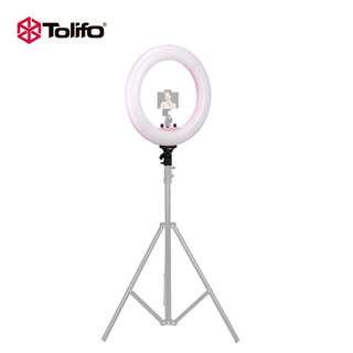 "Tolifo 18"" Dimmable Studio Portrait Photography Light LED Large make up circle Video ring Light"