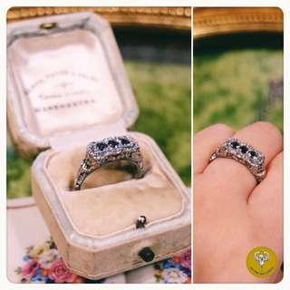 Art Nouveau純銀紫晶戒指
