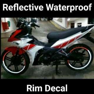 Reflective rim Decal