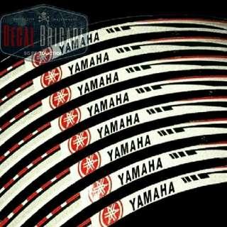 Yamaha Fz16/R15/Ybr Reflective Rim decal