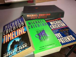 Collection of Michael Crichton novels
