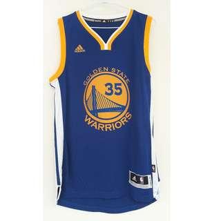 NBA勇士隊2017~2018MVP KD Adidas 球衣$1200/只穿過一次