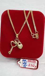 Forever Hallmark Heart and Key Necklace