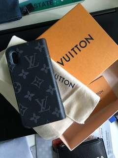 Louis Vuitton iPhone X Folio Monogram Eclipse 99% new