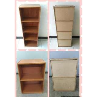 二手2層、4層置物櫃/收納櫃/讀書櫃/DIY/組合櫃/鞋櫃/電視櫃(雙層櫃、四層)