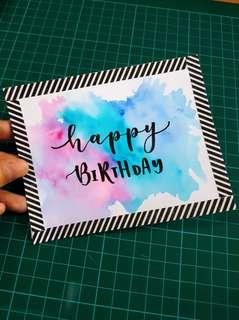 Watercolour Birthday Cardstock