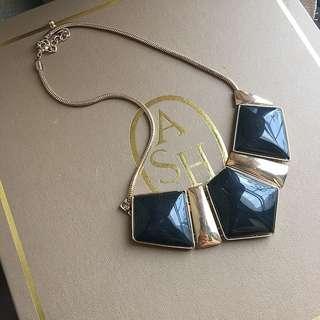 🚚 二手❤️金色x黑色幾何造型短項鍊