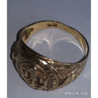 Antique USN (美國海軍介指) K Gold Ring