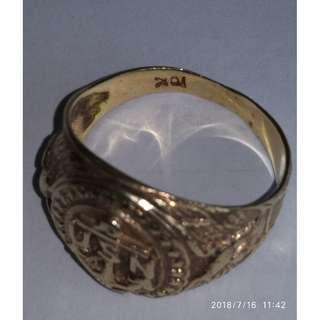 Antique USN (美國海軍介指) K Gold Ring
