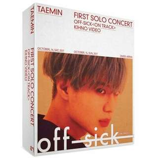 [KIHNO PREORDER] Taemin - 1st Solo Concert Off-Sick (On Track) Kihno Video