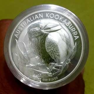🚚 2012年澳洲笑鴗鳥銀幣1管