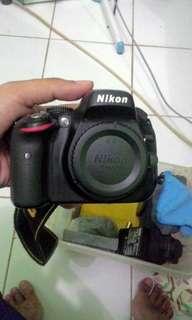 Nikon D5100 + lensa kit + Tas + dus +